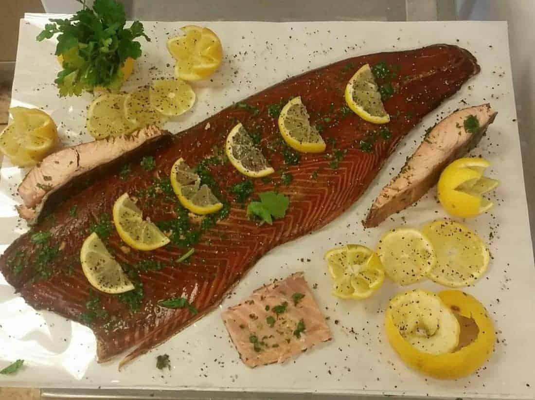 Hot Smoke Salmon and Parsley