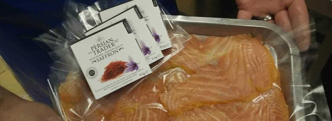 Persian Saffron on Smoked Scottish Salmon