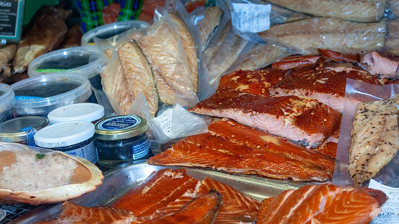 Hot Smoked Salmon At Armstrong's