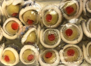 Anchovy Banderillas With Olives