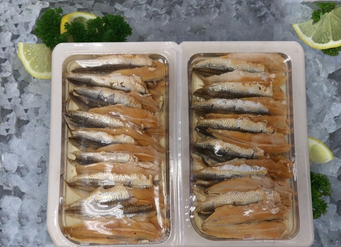 Hot Smoked Anchovy Fillets